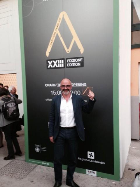 Stefano Micelli, fresco vincitore della 60° edizione del Compasso d'oro