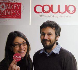 Massimo Carraro insieme a Laura Coppola, fondatori di Cowo ed un asacco di altre cose wow.